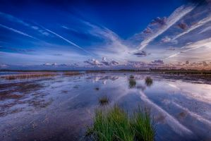 Заставки пейзаж, пруд, небо