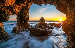 Photo free landscape, rocks, arch