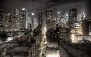 Бесплатные фото ночь,улицы,машины,фонари,дома,высотки,огни