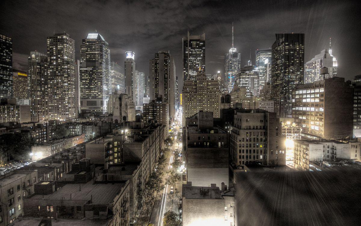 Фото бесплатно ночь, улицы, машины - на рабочий стол