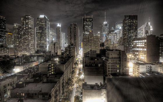 Фото бесплатно ночь, улицы, машины