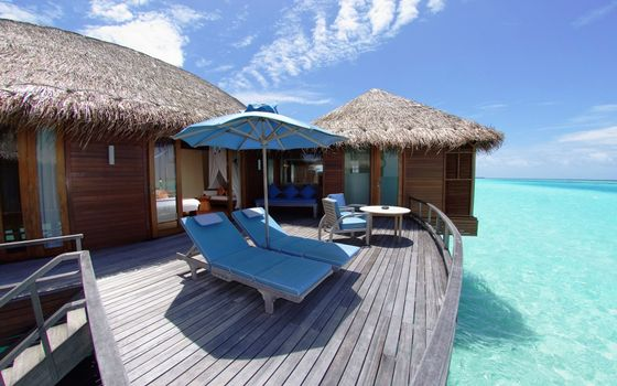 Фото бесплатно курорт, бунгало, море