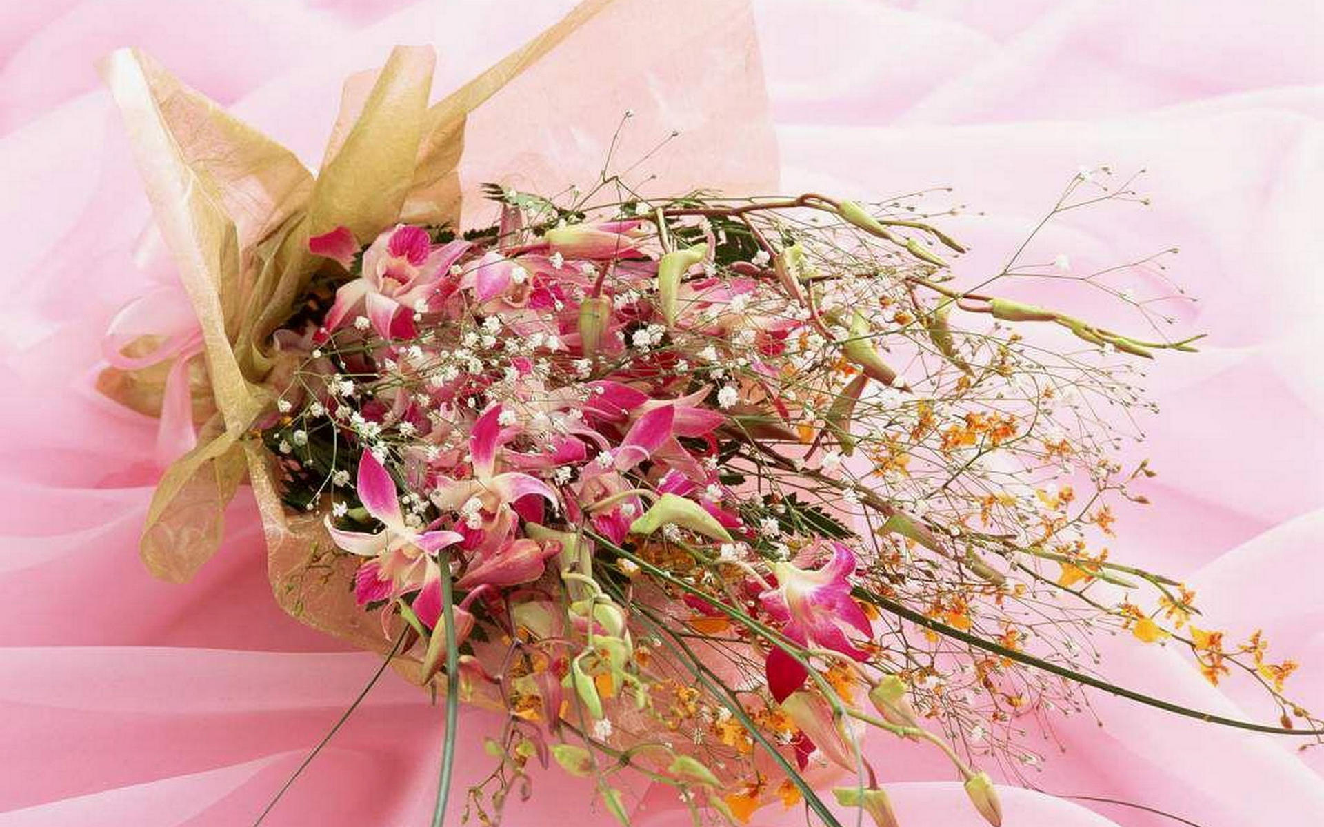 Фантастический букет цветов фото