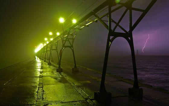 Photo free dam, light, thunderstorm