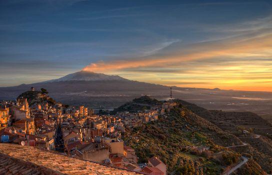 Фото бесплатно Этна действующий стратовулкан, Centuripe, volcano Etna