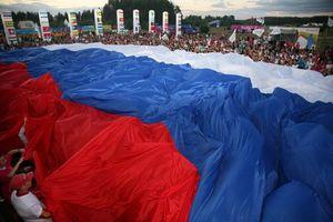 Заставки флаг, России, люди