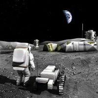 Бесплатные фото луна,спутник,база,проект,станция,Земля,космос