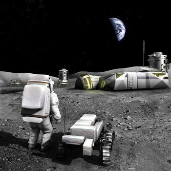 Photo free moon, satellite, base