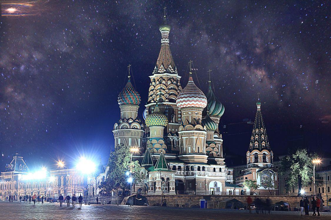 Фото бесплатно Собор Василия Блаженного, Храм Василия Блаженного, Москва, Россия, город