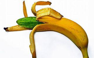 Фото бесплатно банан, кожура, желтая