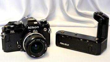 Фото бесплатно фотоаппарат, черный, никон