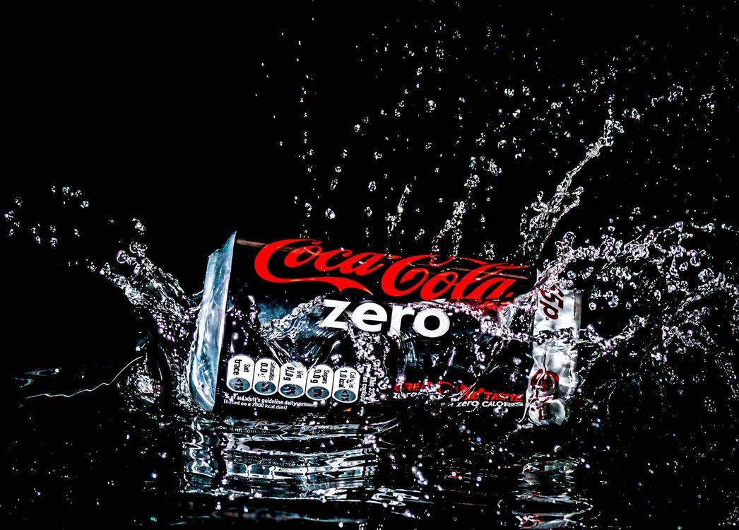 Фото бесплатно Coca-Cola, вода, Всплеск - на рабочий стол
