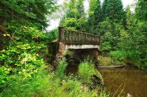 Заставки Онтарио, мост, деревья