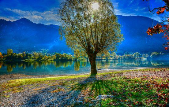 Фото бесплатно Идро, пресное озеро ледникового происхождения, Италия