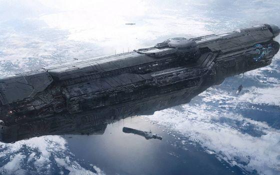 Фото бесплатно облака, космос, космические корабли
