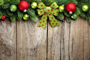 Photo free new year wallpapers, tree branches, Christmas toys