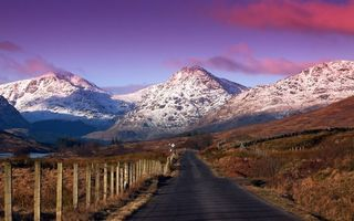 Фото бесплатно асфальт, снег, небо