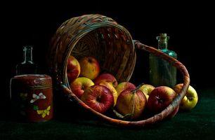 Бесплатные фото корзина,яблоки,фрукты,натюрморт