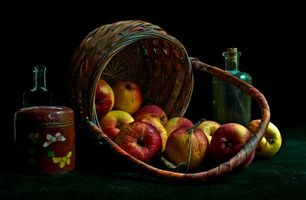 Photo free basket, apples, fruit