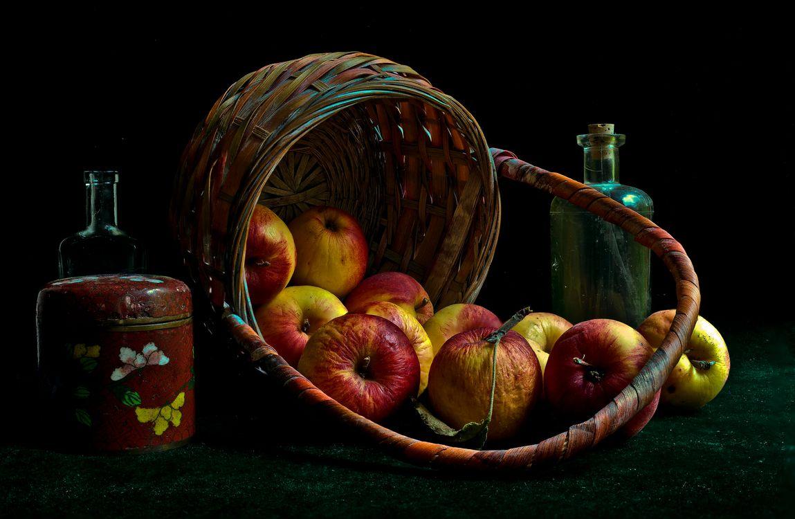 Фото бесплатно корзина, яблоки, фрукты - на рабочий стол
