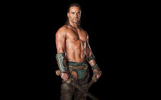 Фото бесплатно воин, мечи, торс