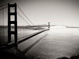 Бесплатные фото залив,море,мост,машины,конструкция,тросы,туман