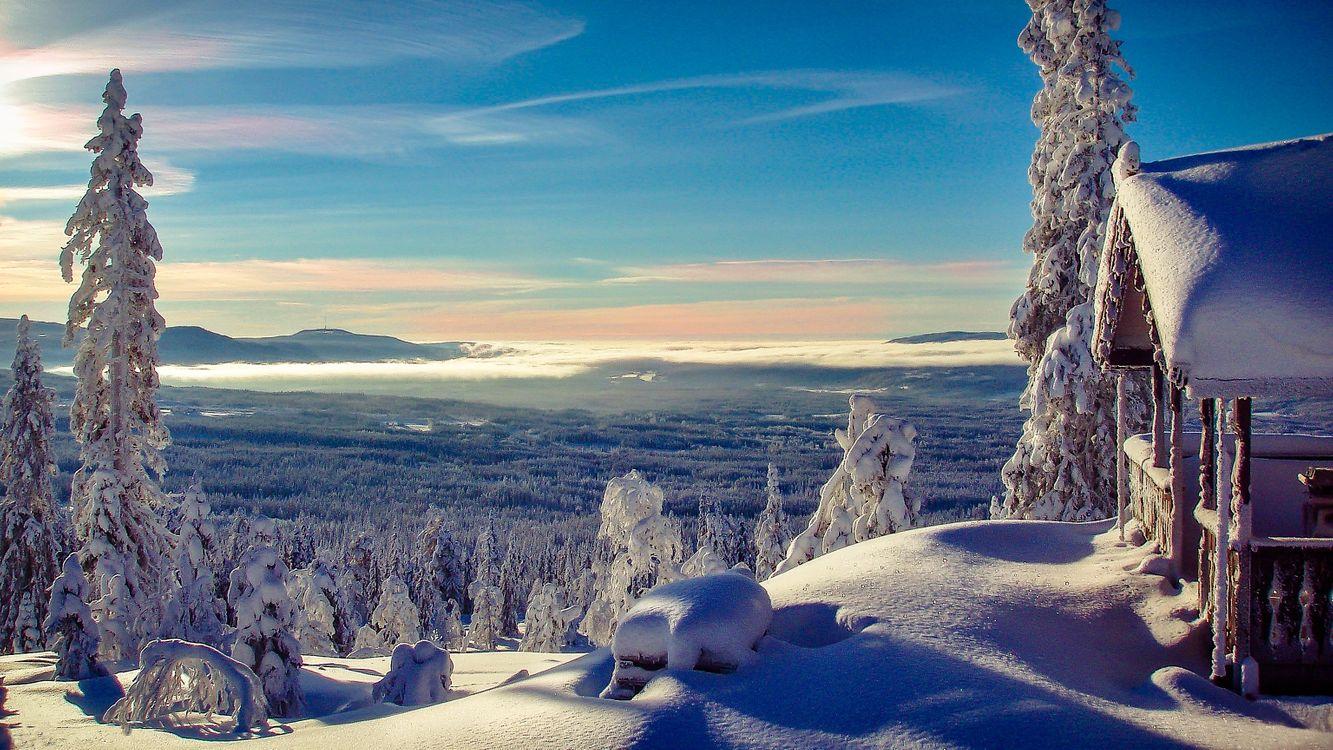 Фото бесплатно Norwegian Winter, горы, зима, деревья, пейзаж, пейзажи