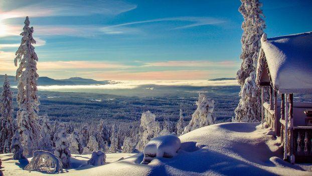 Бесплатные фото Norwegian Winter,горы,зима,деревья,пейзаж