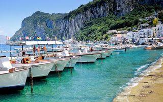 Фото бесплатно побережье, скалы, городок