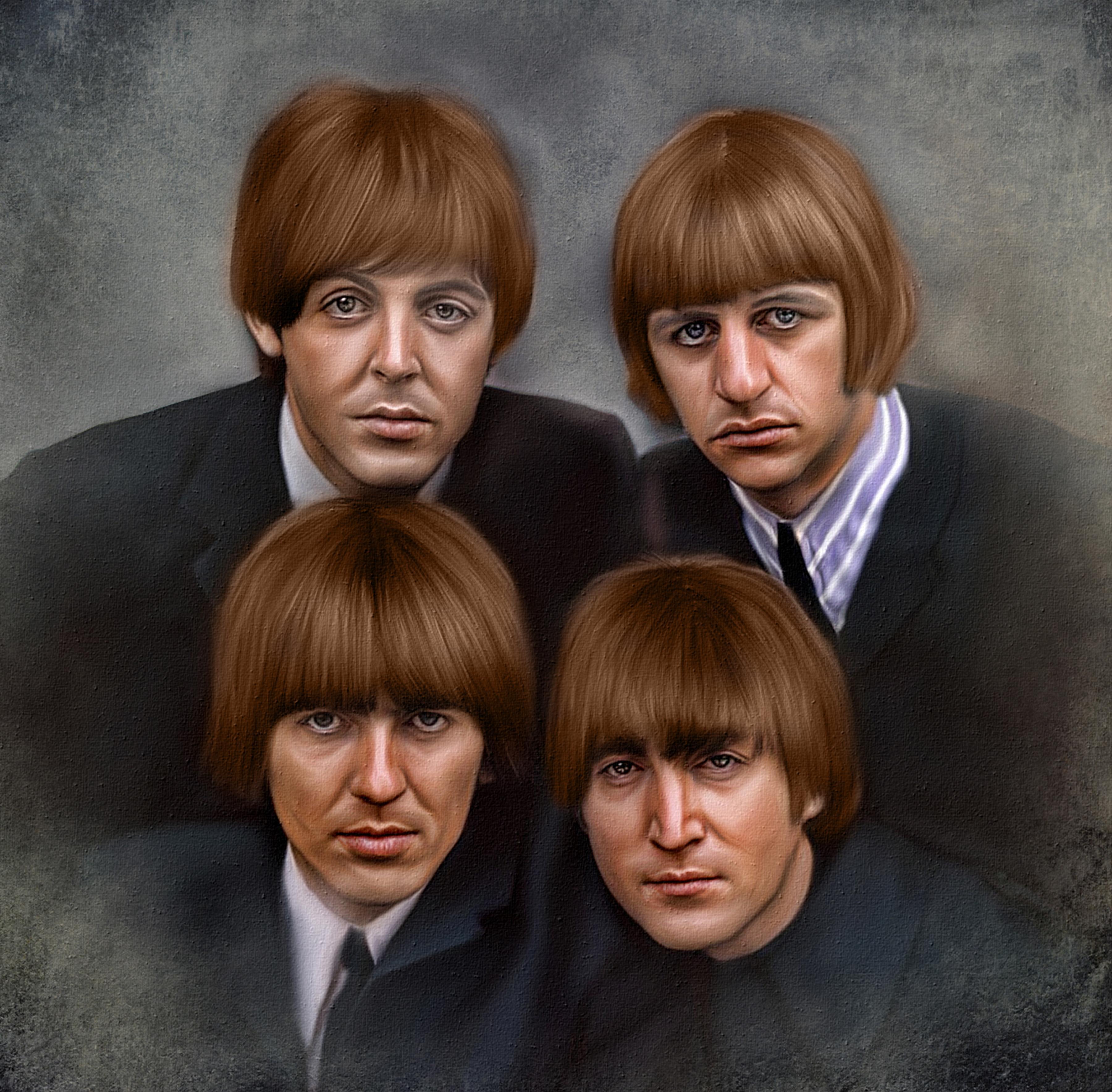 Обои Beatles, ританская рок-группа из Ливерпуля, основанная в 1960 году, портрет