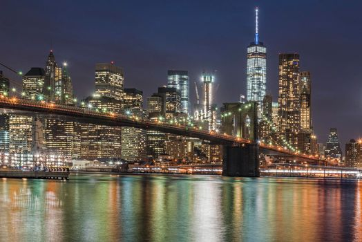 Бруклинский мост, США, соединяет Бруклин и Манхэттен в городе Нью-Йорке