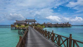 Фото бесплатно Пулау Мабул, Малайзия, мост