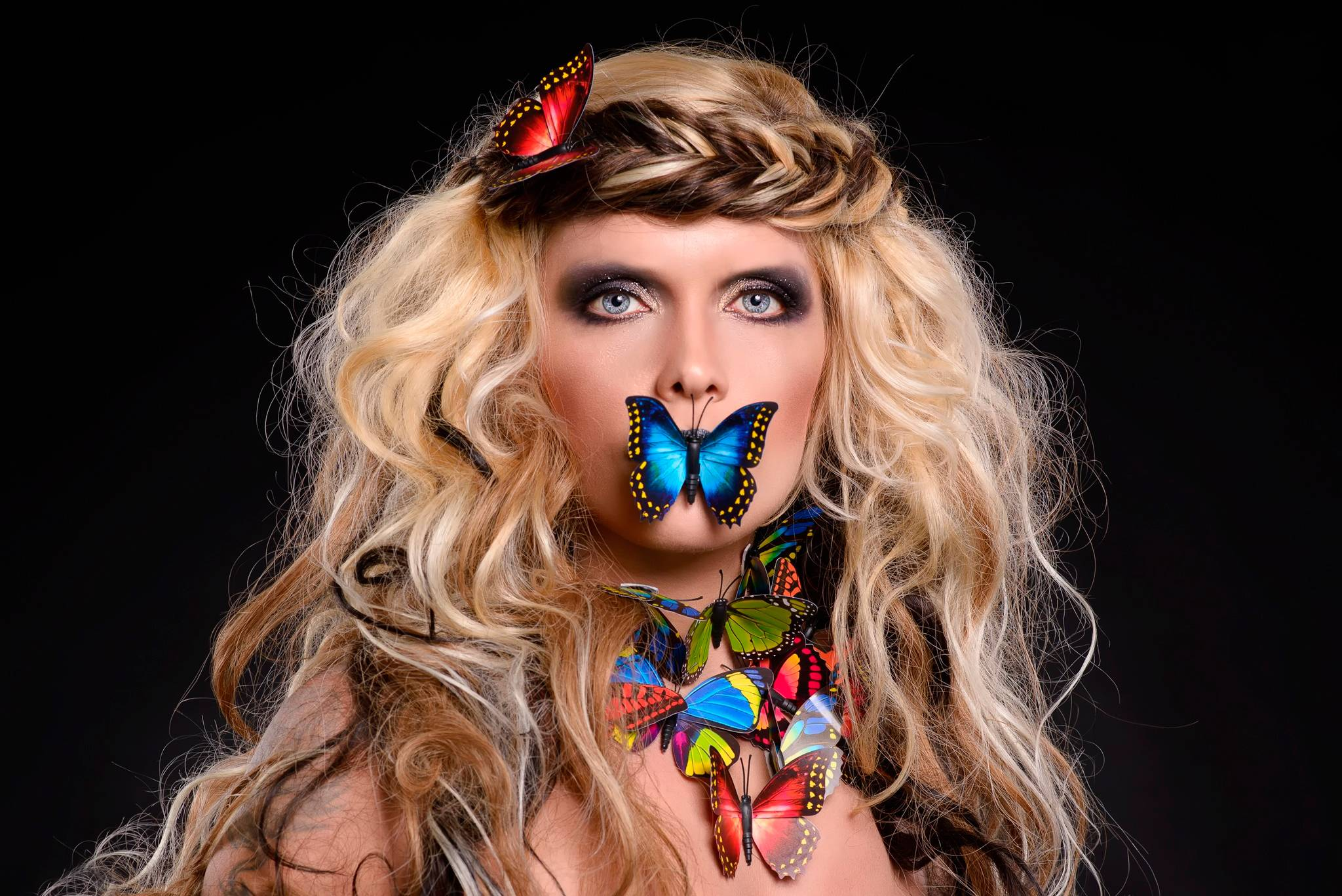 Обои бабочки, портрет, по мотивам фильма, фантазия