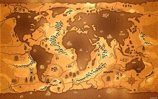 Photo free ancient world map, continents, papyrus