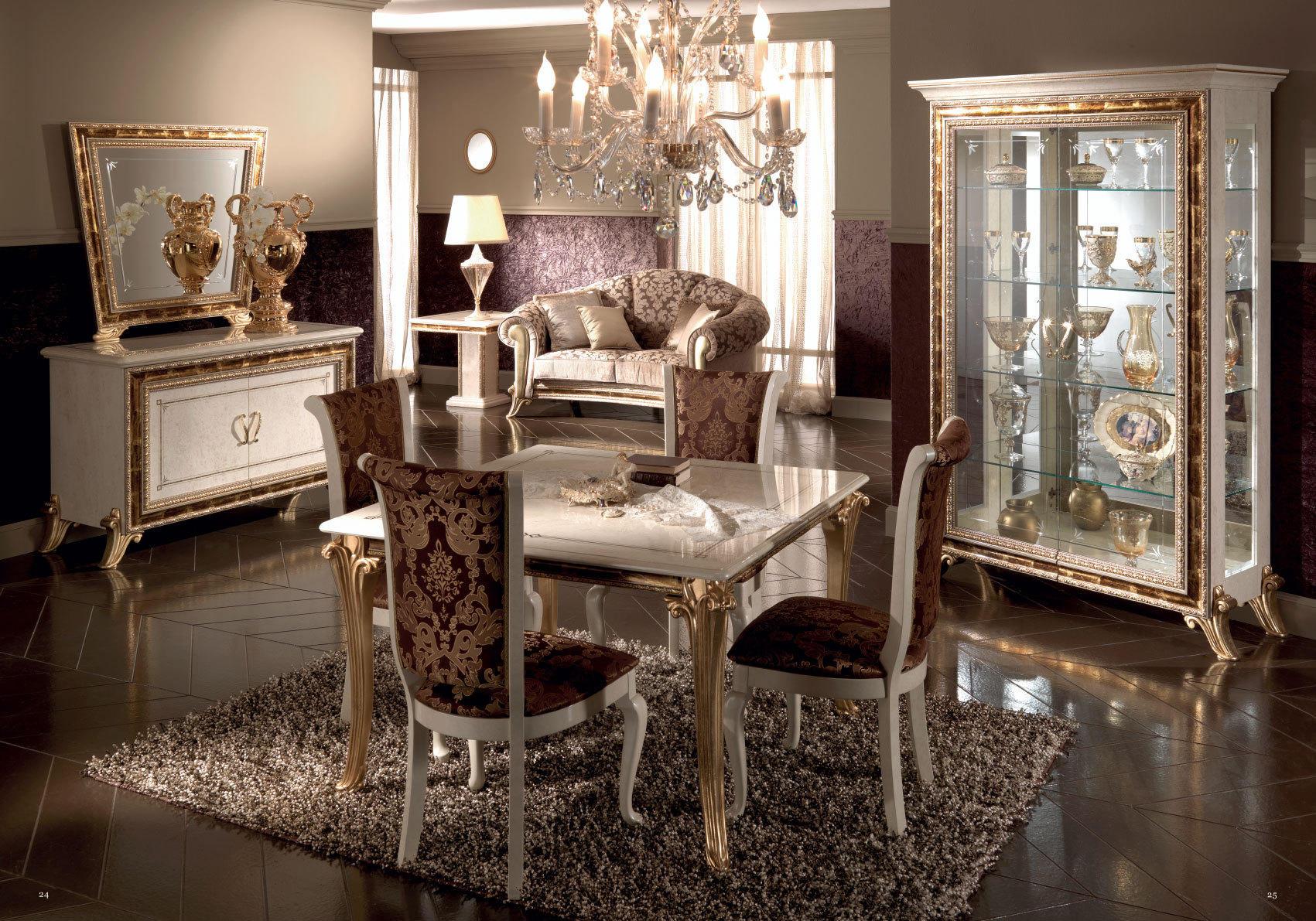 Обои интерьер, гостиная, стол, стулья