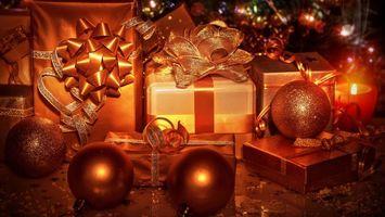 Фото бесплатно рождественская елка, украшения, дизайн