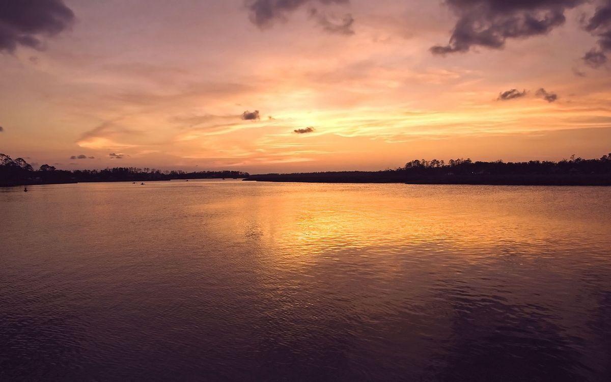 Фото бесплатно вечр, озеро, берега - на рабочий стол