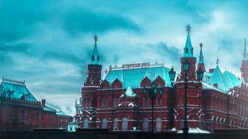 Фото бесплатно ART IRBIS PRODUCTION, Москва, туман, снег, Khusen Rustamov, Хусен Рустамов, фотограф, xusenru, Природа, Россия, Город, мрак