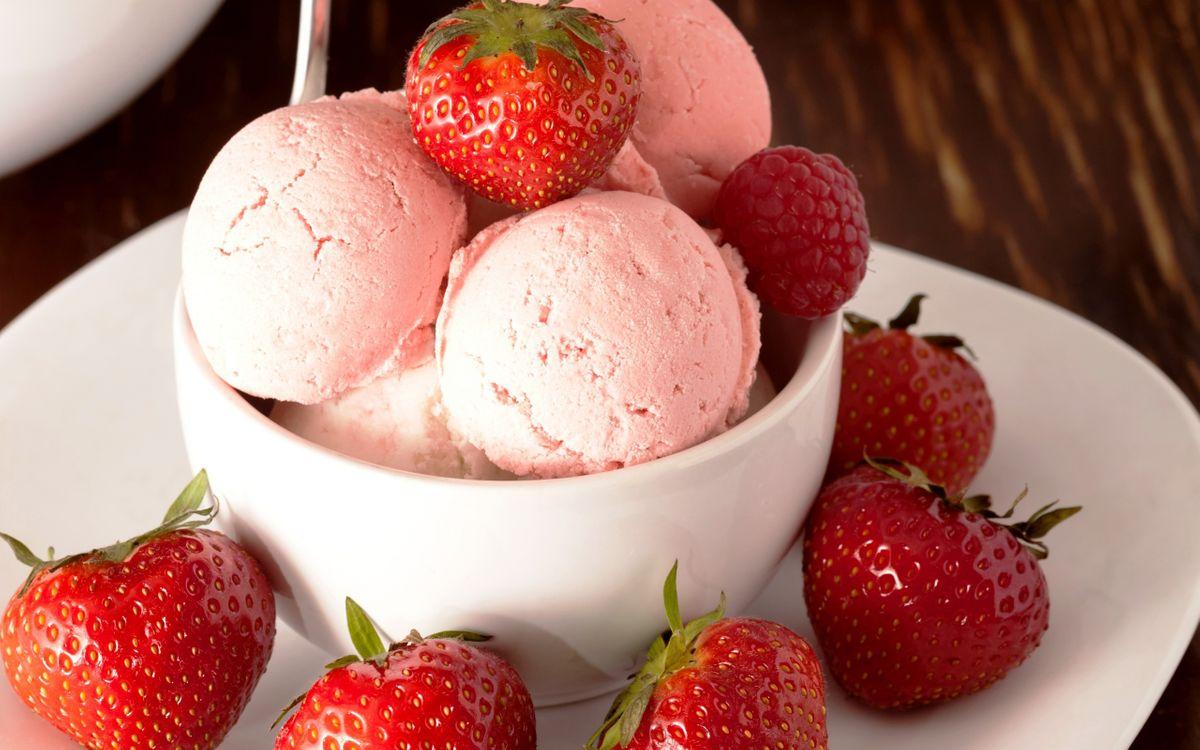 Фото бесплатно чашка, мороженое, шарики - на рабочий стол