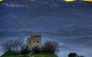 Бесплатные фото осень,дорога,горы,деревья,дом,долина
