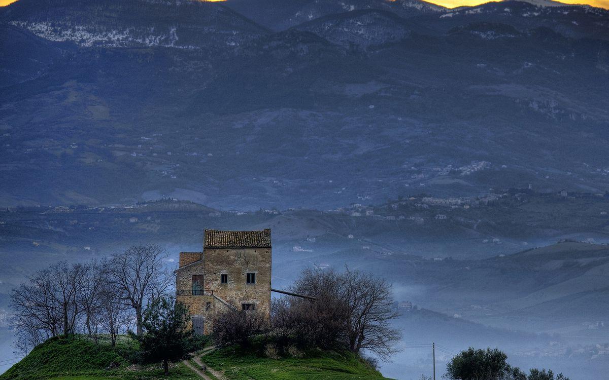 Фото бесплатно осень, дорога, горы - на рабочий стол
