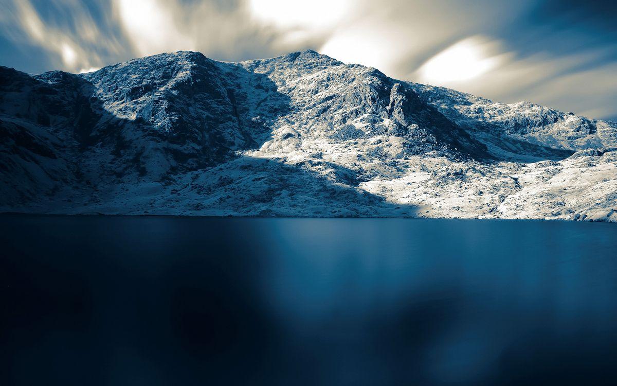 Фото бесплатно озеро, гладь, горы - на рабочий стол