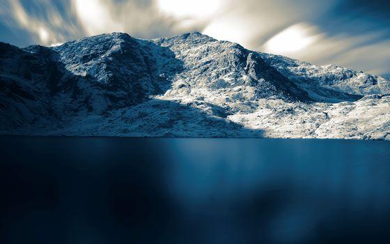 Фото бесплатно озеро, гладь, горы