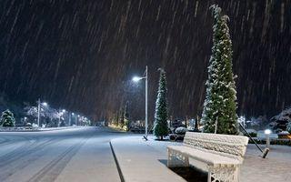 Бесплатные фото зима,ночь,улица,дорога,тратуар,лавочка,скамейка