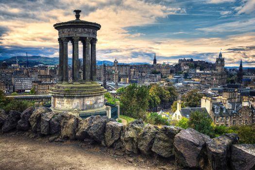 Photo free Calton Hill, a hill in Central Edinburgh, Scotland