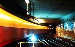 Бесплатные фото тоннель, метро, рельсы, фонари, свет, поворот