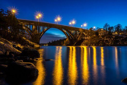 Фото бесплатно Нака, Швеция, закат