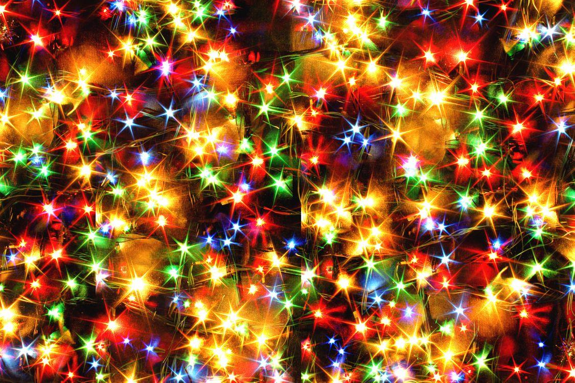Фото бесплатно огни, гирлянды, иллюминация, ярко, новогодний фон, абстракции