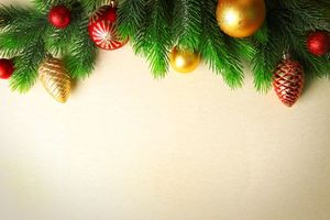 Photo free background, new year, fir branches