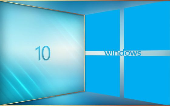 View of the launch of windows 10